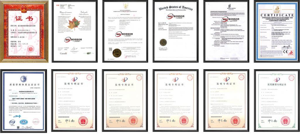 Certification of the Fiber Laser Cuttertting Machine